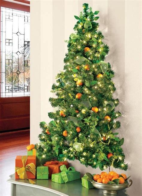 stunning christmas tree made with lights on wall 76 with