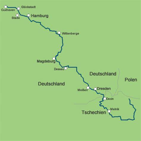 Elbe Radwanderweg Karte