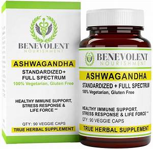 Ashwagandha Blend  U2013 Anxiety  U0026 Stress Relief  U2013 1 5  Root Extract   Organic Root Powder