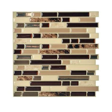 smart tiles 10 in x 10 125 in peel and stick mosaic