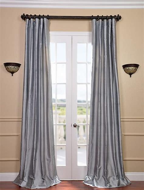 blue water thai silk curtains traditional curtains