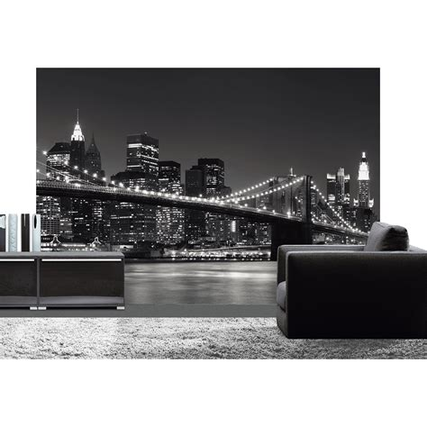 poster de mur new york skyline deco wall l 366 x h 254 cm leroy merlin