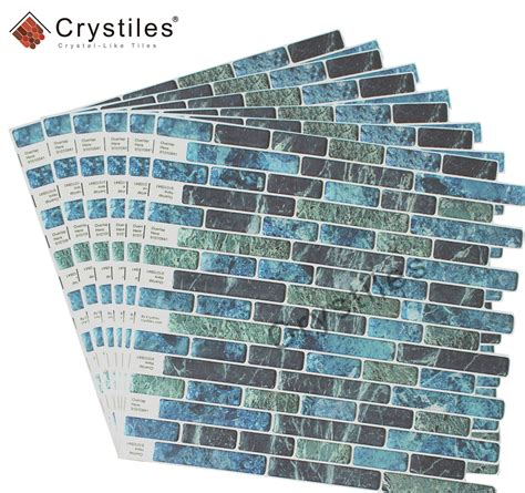 57 crystiles 174 peel and stick self adhesive vinyl