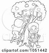 Picking Fruit Clipart Outline Cherry Picker Clip Royalty Pages Coloring Vector Template Foamposites Sketch sketch template