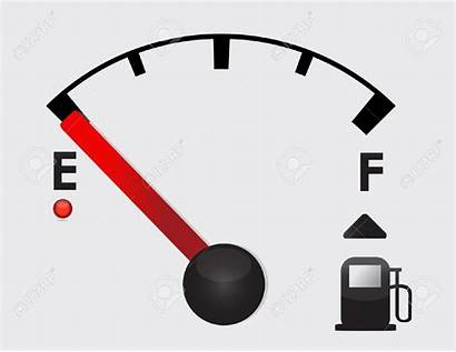 Clipart Gas Fuel Tank Gauge Empty Vector