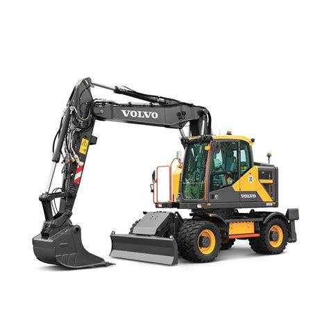 volvo ewre wheeled excavators construction