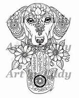 Coloring Pages Dachshund Greek Tattoo Hecate Satyr Goddess God Tattoos Pan Pantheon Tarot Mythology Urban Threads Male Witch Books sketch template