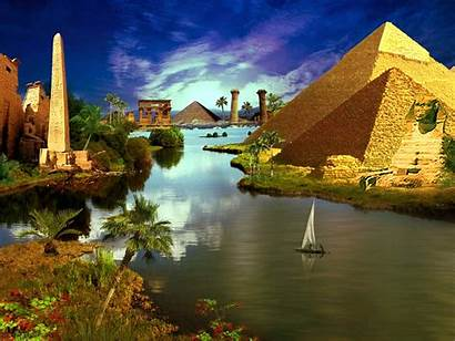 Egypt Ancient Wallpapers Egyptian Landscape Pyramids Universal