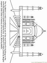 Coloring India Pages Mahal Taj Ancient Printable Colouring Countries Culture Map Crafts History Sheets Hindu Template Drawing Coloringpagebook Gods Tajmahal sketch template