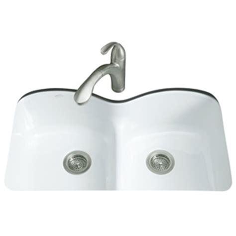 kohler kitchen sink colors k6626 6u 0 langlade white color undermount bowl 6688