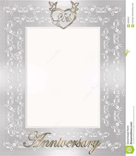 wedding anniversary invitation stock illustration