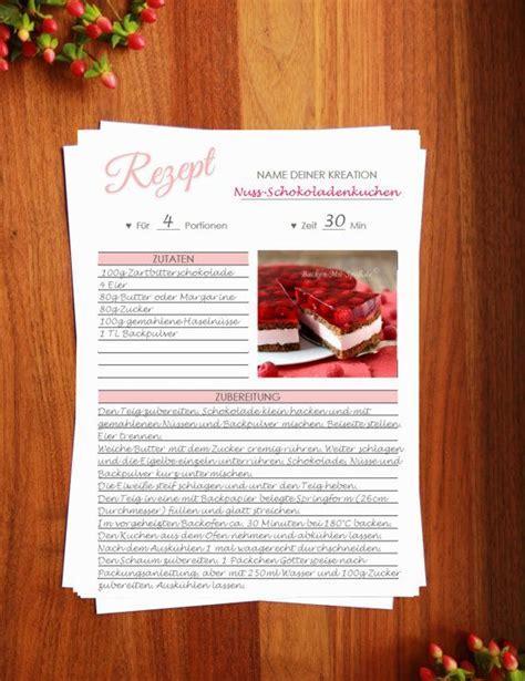 Knifelblatt zum ausdrucken dina 4 : Rezeptvorlage zum Drucken // Printable recipe template ...