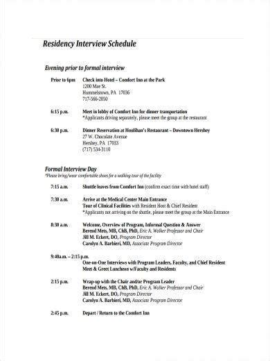 interview schedule 9 schedule sles and templates pdf word sle templates