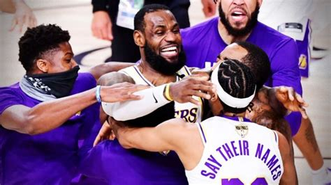 'This is bigger than us' - LeBron and Lakers dedicate NBA ...