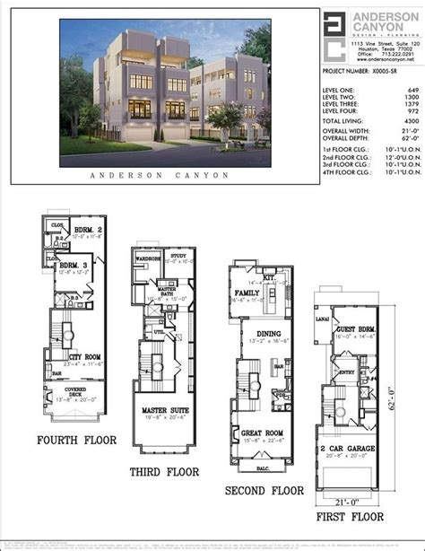 buy townhouse plans  cool townhome designs
