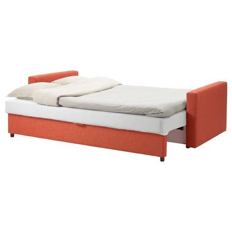 loveseat sofa bed ikea friheten three seat sofa bed skiftebo dark orange ikea