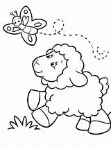 Coloring Lamb Had Mary sketch template