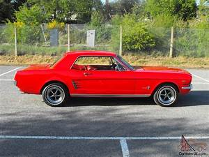 1966 Ford Mustang Coupe, Red,V8 289ci (4.7L), Automatic