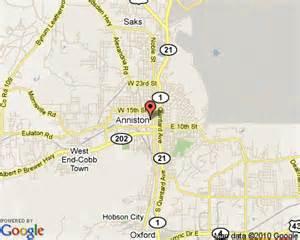 Map of Alabama Anniston Al