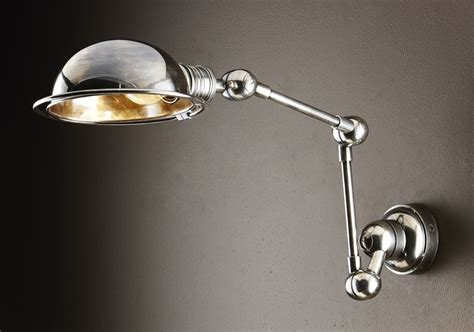 rothwell swing arm wall light in antique silver