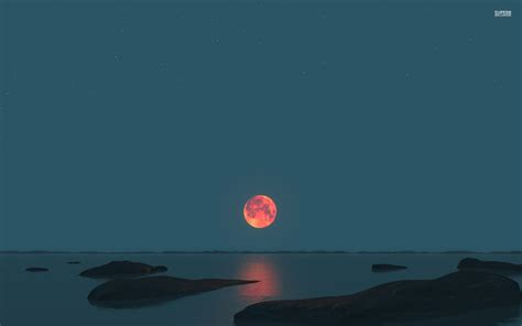 red moon wallpapers group