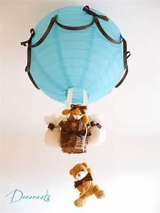 Lustre Montgolfière Bebe : lampe montgolfi re enfant b b cr ation artisanale ~ Teatrodelosmanantiales.com Idées de Décoration
