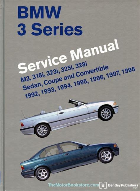 car maintenance manuals 1998 bmw 3 series parking system bmw 3 series e36 repair manual 1992 1998 m3 318i 323i 325i 328i