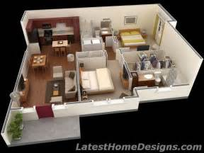 1500 Sf House Plans 1000 Square 3d 2bhk House Plans Small Houses Square Squares And House