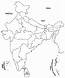 Blank map of india and surrounding countries and travel ...