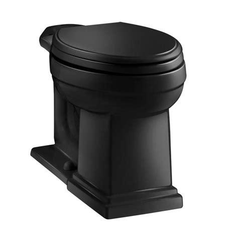 shop kohler tresham black black elongated chair height
