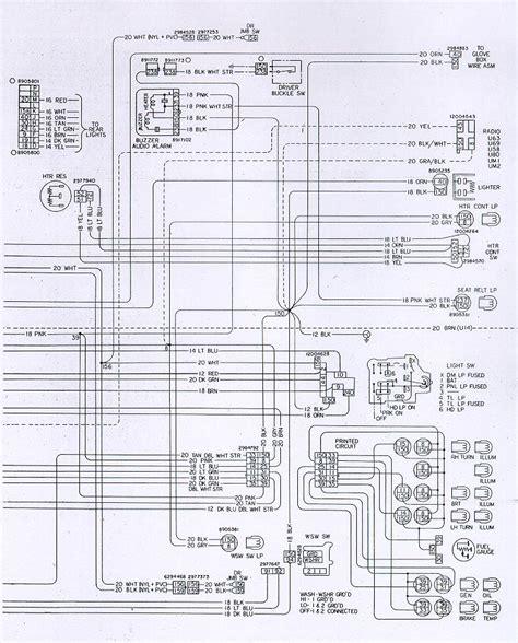 Camaro Instrument Panel Wiring Schematic
