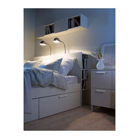 brimnes headboard with storage compartment white standard