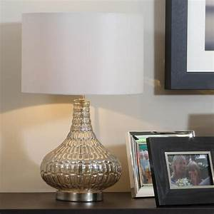 Mosaic table lamp gold or silver allissias attic for Silver mosaic floor lamp