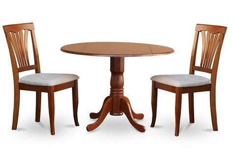 3pc kitchen dinette set 42 quot table 2 wood seat
