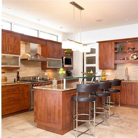 cuisine bois contemporaine cuisines beauregard cuisine réalisation 148 cuisine