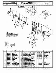 Poulan Pro Pp4018 Chainsaw Parts List  2006