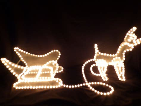 decorations reindeer and sleigh rope light led