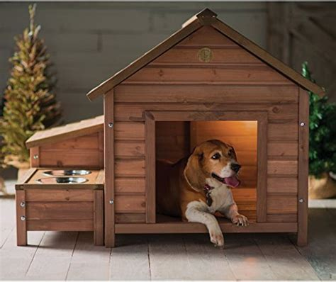 large outdoor dog house wooden kennel puppy pet