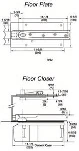 rixson 28x554 floor closer replacement for center hung floor closer with concealed low