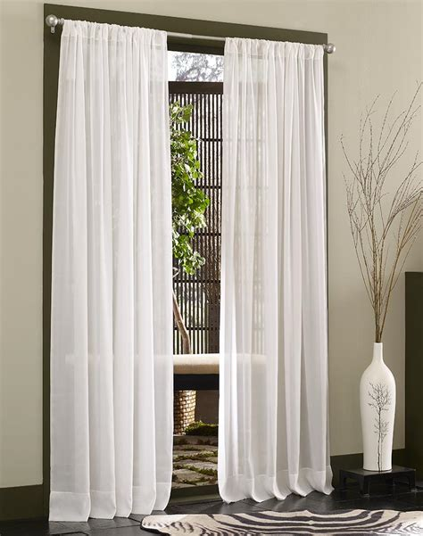 White Sheer Voile Curtains by Caress Voile Sheer Curtain Panel With Repreve
