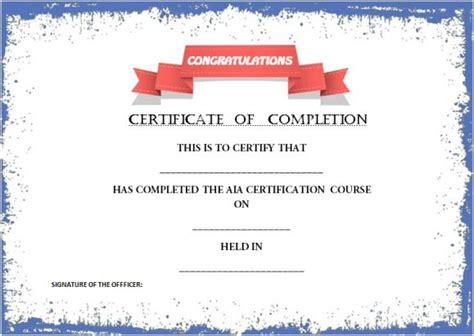 Certificate of successful completion template costumepartyrun certificate of completion template 55 word templates yelopaper Images