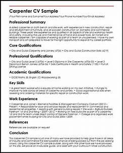 carpenter cv sample myperfectcv With carpenter resume sample