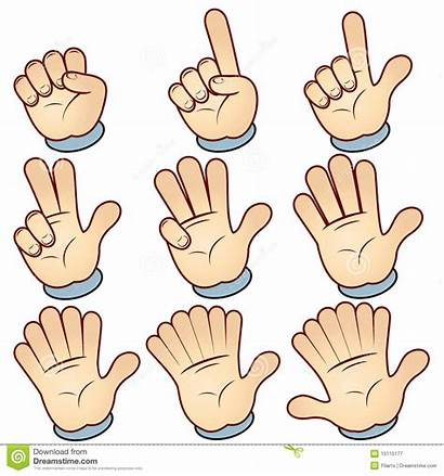 Counting Hand Vector Count Hands Illustration Cartoon