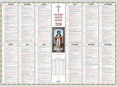 Calendar Ortodox 2018 Aprilie luna în care avem 7