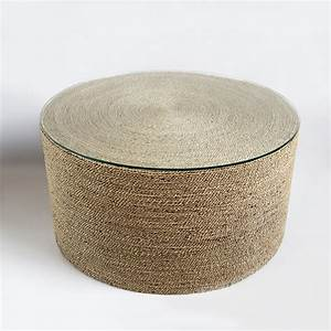 Round seagrass rope table furniture mix furniture for Round rope coffee table