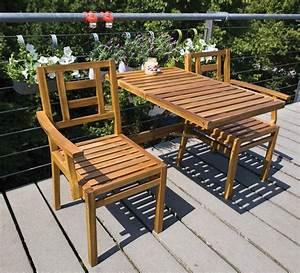 Table De Balcon : banc de jardin convertible en table chaises en bois ~ Teatrodelosmanantiales.com Idées de Décoration