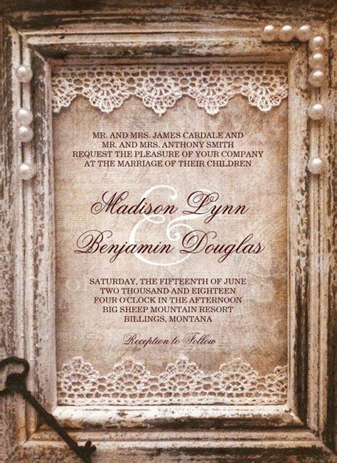 rustic wedding invitation design templates psd ai