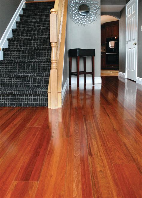 staybull brazilian cherry recycled hardwood flooring