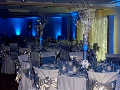 royal blue and silver wedding decoration ideas table