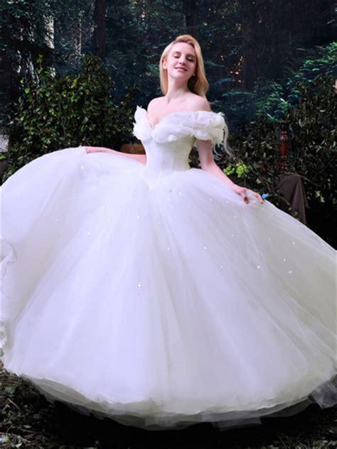 Ball Gown Off the Shoulder Cinderella Wedding Dress